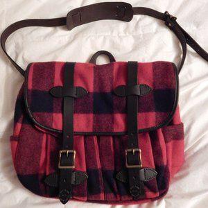 Filson Medium Field Bag - Red, Black Plaid